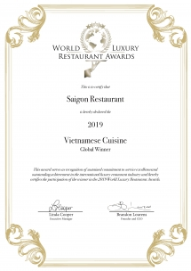 InterContinental Hanoi Westlake wins luxury restaurant awards 2019
